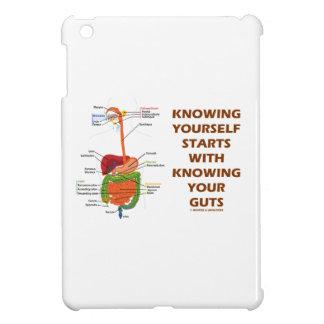 あなた自身を知っていますあなたの内臓を知っていることを用いる開始 iPad MINIケース