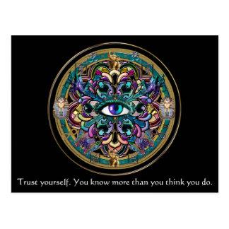 あなた自身を~世界の曼荼羅の目信頼して下さい ポストカード