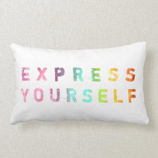 あなた自身を-絵画的な枕表現して下さい ランバークッション