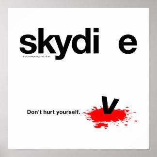 あなた自身をSkydiver傷つけないで下さい ポスター