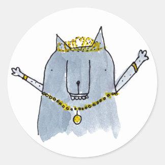 あなた自身割り当てられる王女があって下さい ラウンドシール