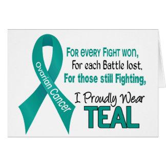 あらゆるのための卵巣癌.....私は得意気にティール(緑がかった色) 1を身に着けています カード
