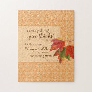 あらゆる事で感謝- 1 Thes --を与えて下さい。 5:18 ジグソーパズル