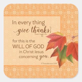 あらゆる事で感謝- 1 Thes --を与えて下さい。 5:18 スクエアシール