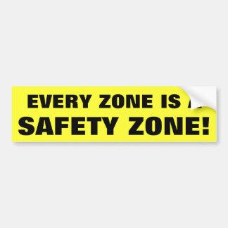 あらゆる地帯は安全地帯です バンパーステッカー
