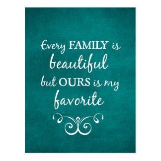 あらゆる家族は美しい引用文です ポストカード