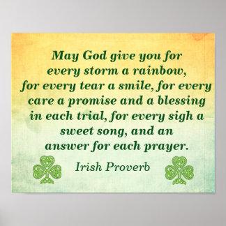 あらゆる嵐 -- アイルランド人の引用文 -- ポスタープリント ポスター