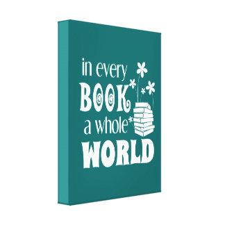あらゆる本全世界のキャンバス キャンバスプリント
