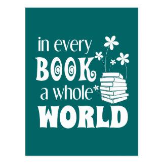 あらゆる本全世界の郵便はがき ポストカード