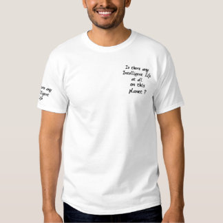 あらゆる知性があるな人生の刺繍されたワイシャツあります 刺繍入りTシャツ