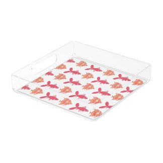 あらゆる色の水泳の写実的なピンクのモモを採取して下さい アクリルトレー
