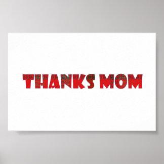 ありがとうのお母さんのhandwriteより多くの挨拶の子供家族 ポスター