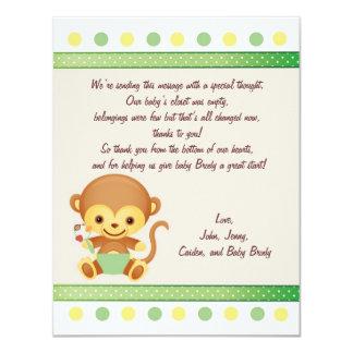 ありがとうのノートのベビー猿 カード