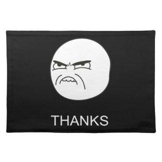 ありがとうのミーム-黒いランチョンマット ランチョンマット