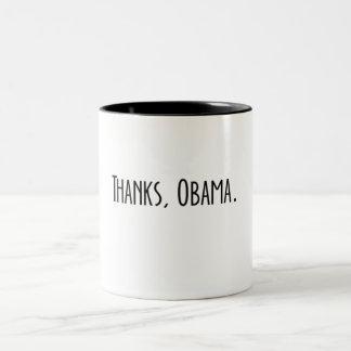 ありがとう、オバマ ツートーンマグカップ