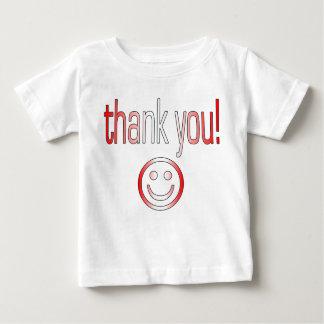 ありがとう! カナダの旗色 ベビーTシャツ