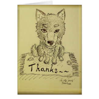 ありがとう---- ハスキー カード