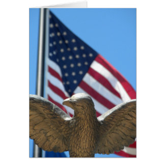 ありがとう: ワシ及び旗 カード