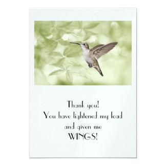 ありがとう! 私の負荷を緩和し、私に翼を与えます! カード