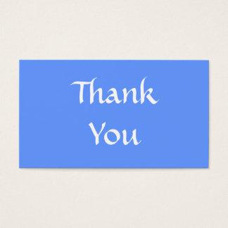 ありがとう。 青および白 名刺