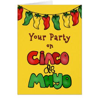 ありがとう! Cinco deメーヨーのあなたのパーティーは熱かったです! カード