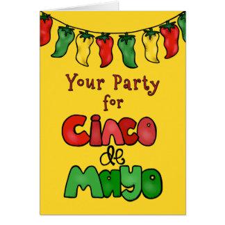 ありがとう! Cinco deメーヨーのためのあなたのパーティーは熱かったです! カード