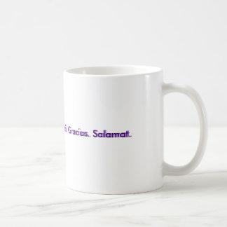 ありがとう。  Danke。 Merci。 Gracias。 Salamat。、Th… コーヒーマグカップ