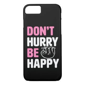 あります幸せでおもしろいな怠惰の電話箱のピンクが急がせないで下さい iPhone 8/7ケース