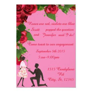 あります赤い婚約パーティの招待状は上がりました カード