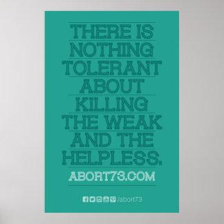 ありません耐久性がある何も… ポスター(Abort73.com) ポスター