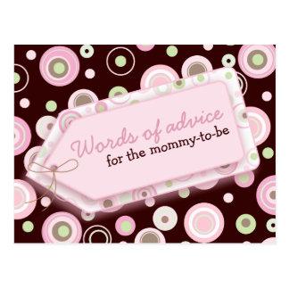 あるお母さんのためのカード幸せな点の助言の言葉 ポストカード