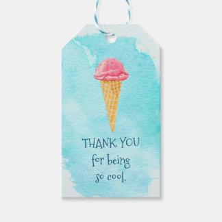 あることをありがとうそうすればアイスクリームを冷却して下さい ギフトタグ
