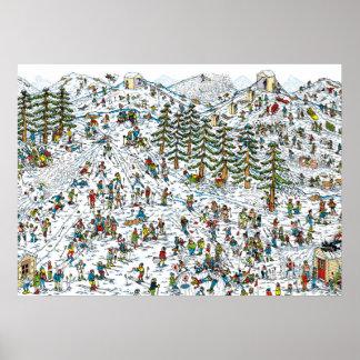 ある一方、Waldoのスキーは傾斜します ポスター