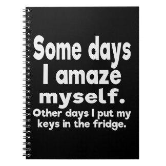 ある日私は自分自身を驚かせます ノートブック