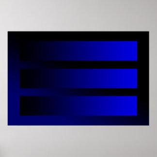ある青い勾配 ポスター