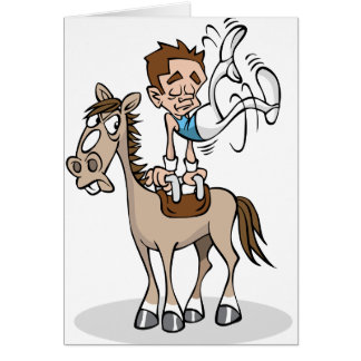 あん馬の体操の挨拶状 カード