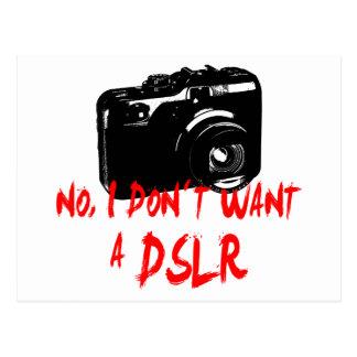 いいえのIのdon´t DSLRがほしいと思います ポストカード