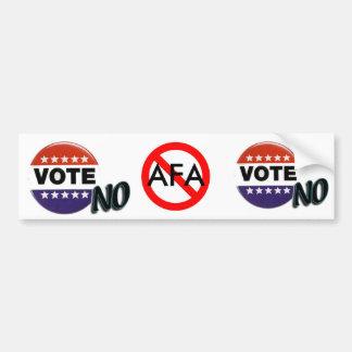 いいえ投票しないで下さい! 、いいえ投票しないで下さい! 、印無し、AFA バンパーステッカー