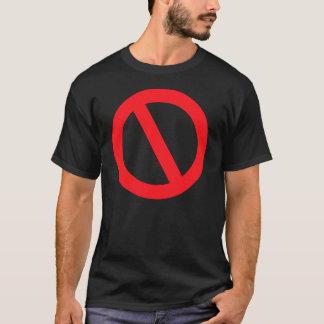 いいえ。 ちょうど、いいえ(暗いT)で Tシャツ