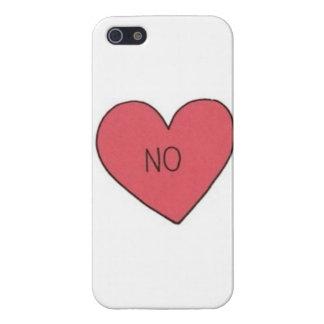 """""""いいえ""""ハートのIPhone 5の場合 iPhone 5 カバー"""