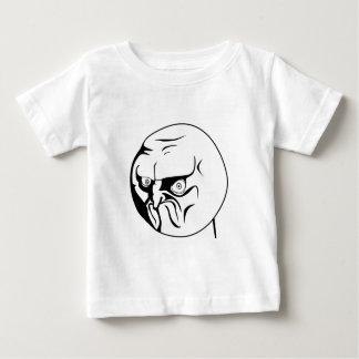 いいえ! 激怒の喜劇的なインターネットのミーム ベビーTシャツ