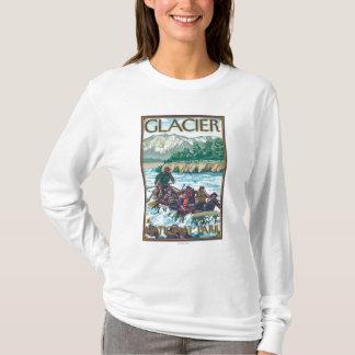 いかだで運ぶ白濁水-グレーシャー国立公園、MT Tシャツ