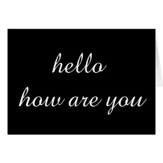 いかにあるかエレガントな挨拶こんにちは カード