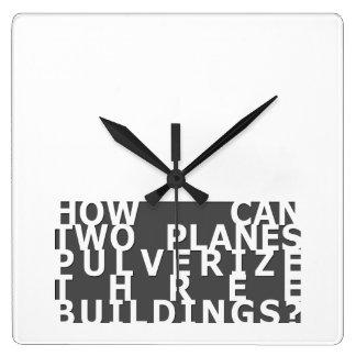 いかにできなさい… 9/11 スクエア壁時計