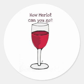 いかにメルロー行くことができますか。 ジル著ワインのプリント ラウンドシール