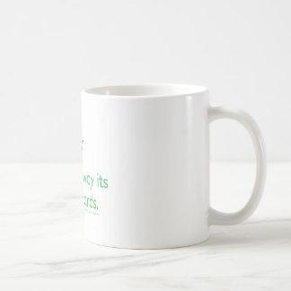 いかに充満からのサイをストップか。 コーヒーマグカップ