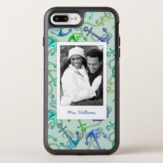 いかりおよびロープパターン|あなたの写真及び名前 オッターボックスシンメトリーiPhone 8 PLUS/7 PLUSケース