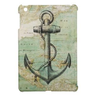 いかりが付いている旧式で航海のな地図 iPad MINIケース