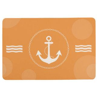 いかりの航海のでモダンなオレンジ フロアマット