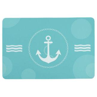 いかりの航海のでモダンな淡いブルー フロアマット